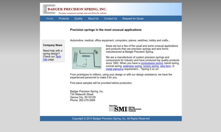Badger Precision Spring, Inc.