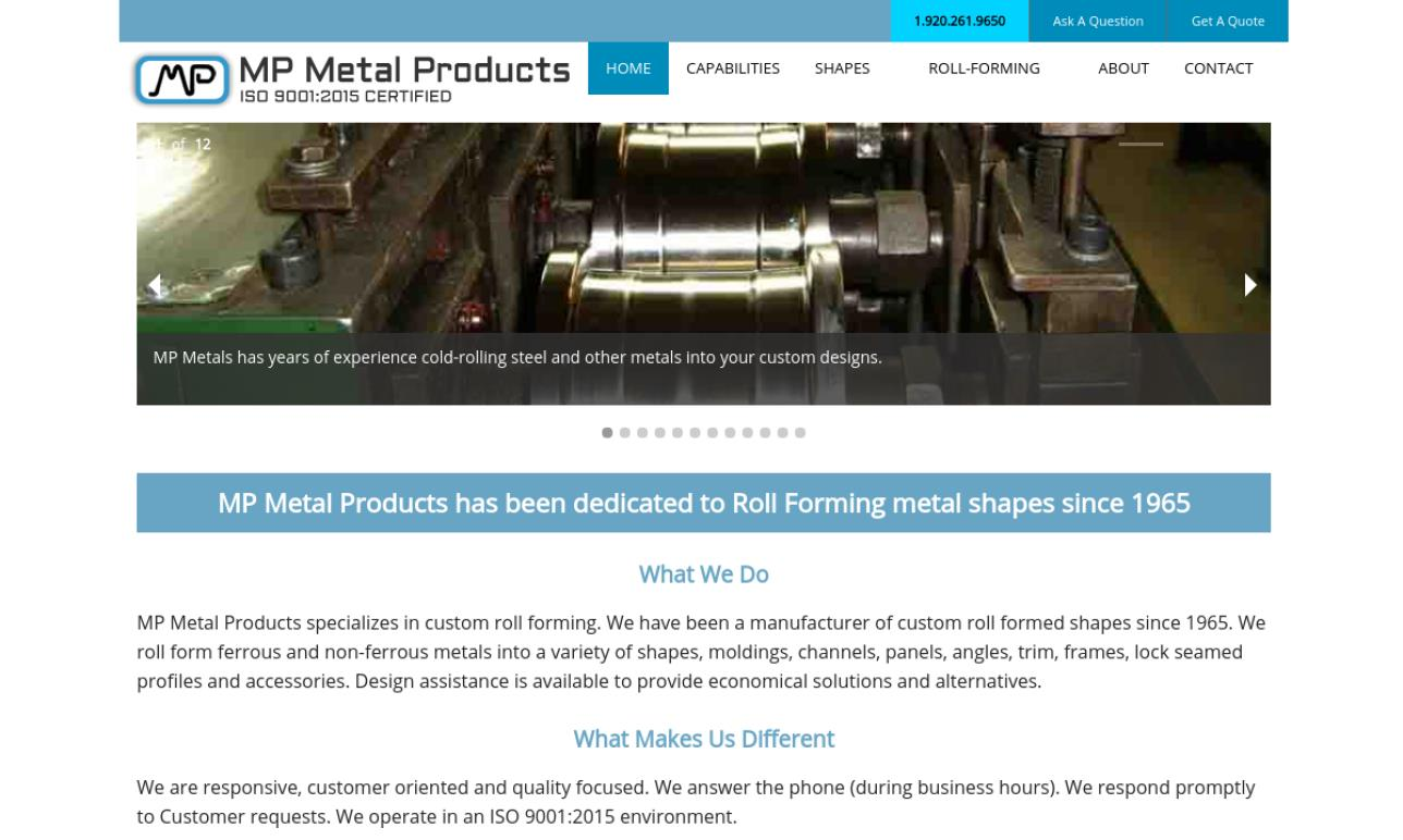 M.P. Metal Products, Inc.