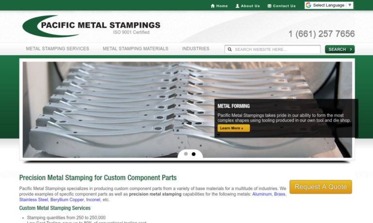 Pacific Metal Stampings, Inc.