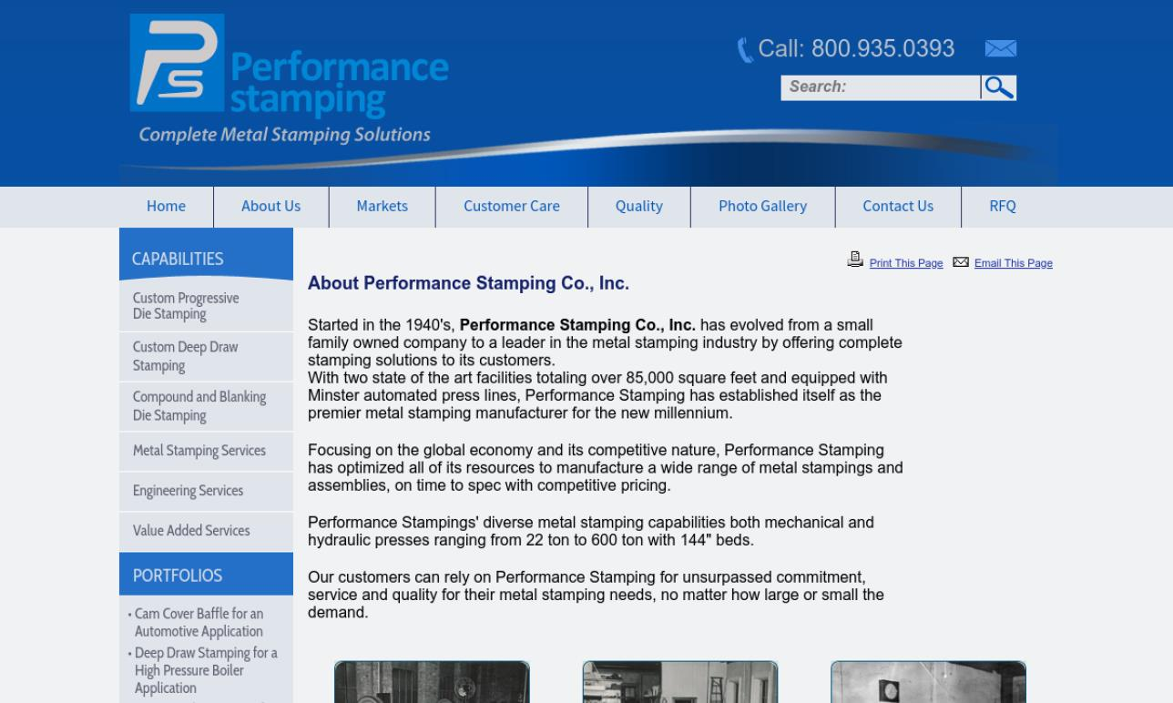 Performance Stamping Co.