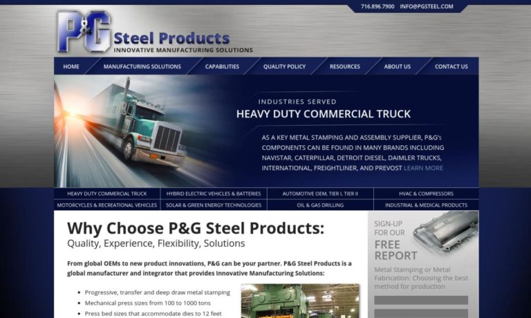 P&G Steel Products Company, Inc.