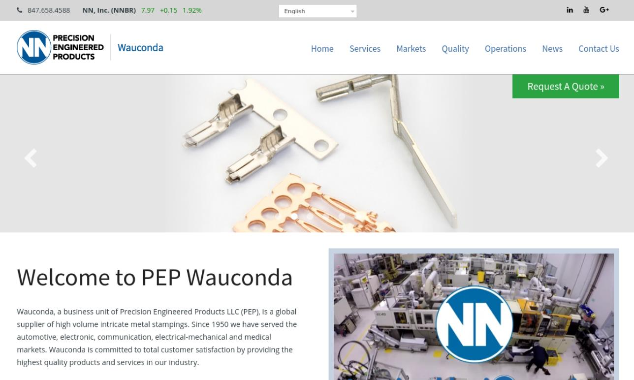 NN, Inc. Precision Engineered Products Group, Wauconda Division