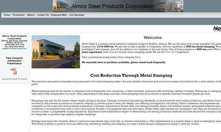 Almco Steel Products Corporation